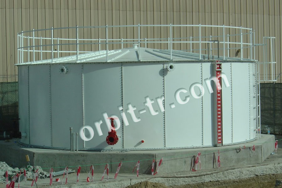 Modular cylindirical water tank
